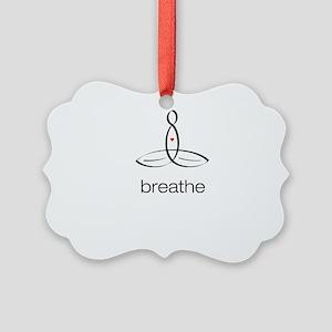 Meditator - Breathe - Picture Ornament
