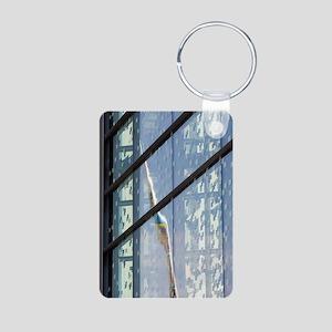 Reflection of the Alliance Aluminum Photo Keychain