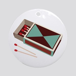 Matches Box Fire Ornament (Round)