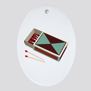 Matches Box Fire Ornament (Oval)