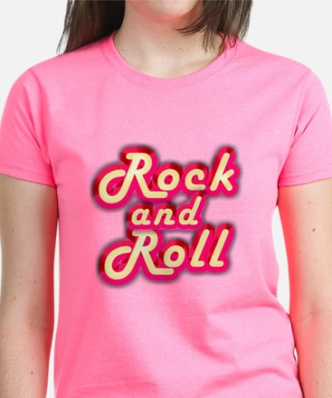 Pink Rock and Roll Women's Dark T-Shirt