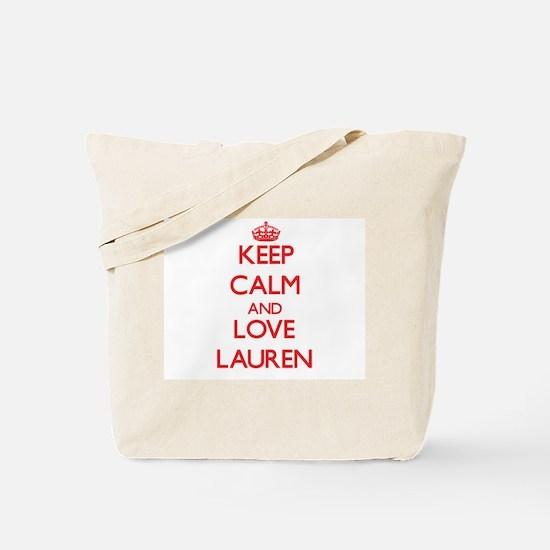 Keep Calm and Love Lauren Tote Bag