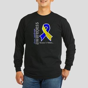 DS Awareness 5 Long Sleeve Dark T-Shirt