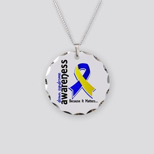 DS Awareness 5 Necklace Circle Charm