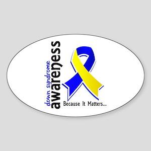 DS Awareness 5 Sticker (Oval)