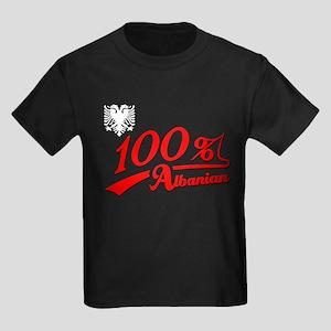 100% Albanian Kids Dark T-Shirt