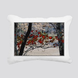 Autumn leaves in oil Rectangular Canvas Pillow
