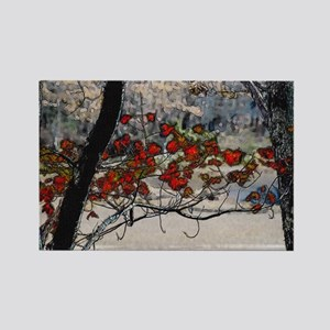 Autumn leaves in oil Rectangle Magnet