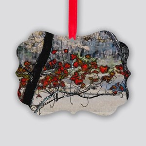 Autumn leaves in oil Picture Ornament