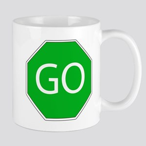 Green go sign Mug