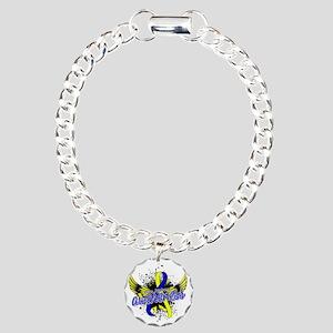 DS Awareness 16 Charm Bracelet, One Charm