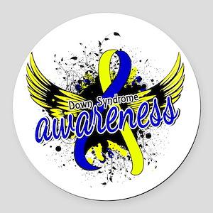 DS Awareness 16 Round Car Magnet