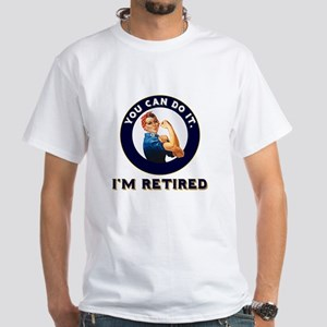 Rosie Retired Riveter White T-Shirt