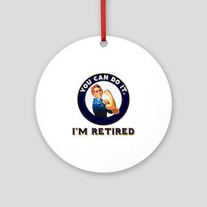 Rosie Retired Riveter Round Ornament