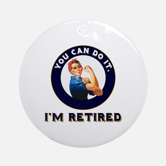 Rosie Retired Riveter Round Ornament