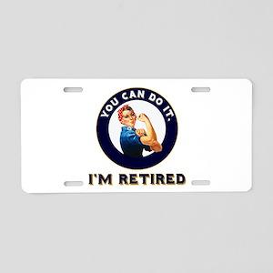 Rosie Retired Riveter Aluminum License Plate