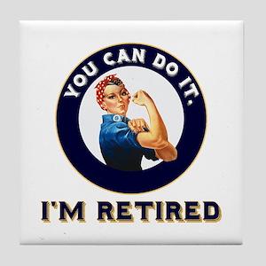 Rosie Retired Riveter Tile Coaster