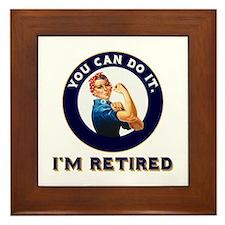 Rosie Retired Riveter Framed Tile