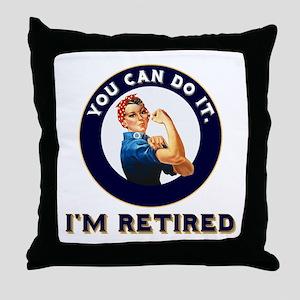 Rosie Retired Riveter Throw Pillow