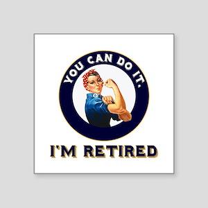 "Rosie Retired Riveter Square Sticker 3"" x 3"""