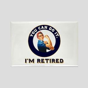 Rosie Retired Riveter Rectangle Magnet