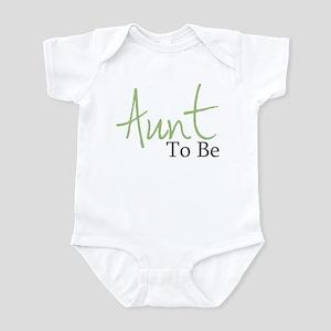 Aunt To Be (Green Script) Infant Bodysuit