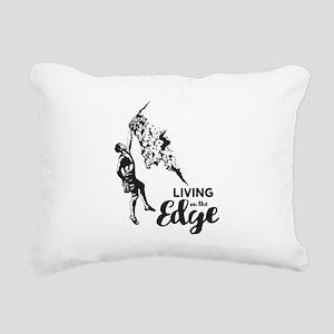 Rock Climbing Rectangular Canvas Pillow