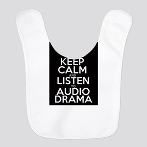 Keep Calm and Listen to Audio D Polyester Baby Bib