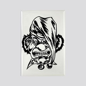 Angry Clown Rectangle Magnet
