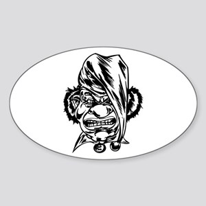 Angry Clown Oval Sticker