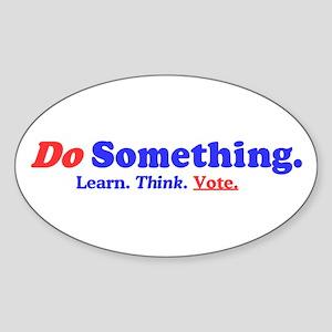 Do Something Sticker (Oval)