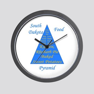 South Dakota Food Pyramid Wall Clock