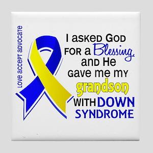 Blessing 4 Grandson DS Tile Coaster