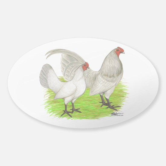 Old English Self Blue Chickens Decal