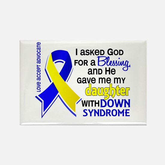 Blessing 4 Daughter DS Rectangle Magnet (100 pack)
