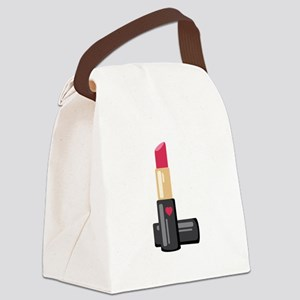 Lipstick Canvas Lunch Bag