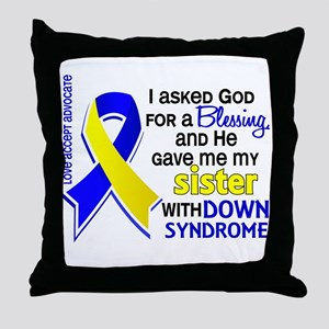 Blessing 4 Sister DS Throw Pillow