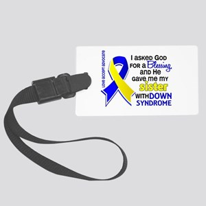 Blessing 4 Sister DS Large Luggage Tag