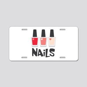 Nails Aluminum License Plate