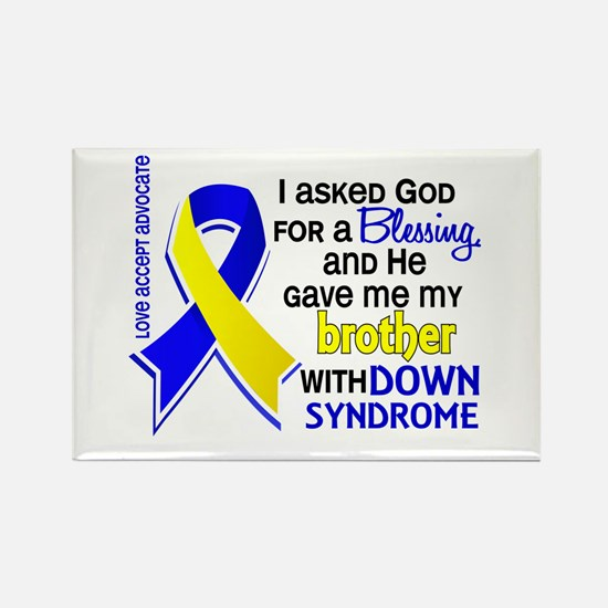 Blessing 4 Brother DS Rectangle Magnet (100 pack)