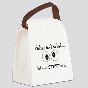 staring Canvas Lunch Bag
