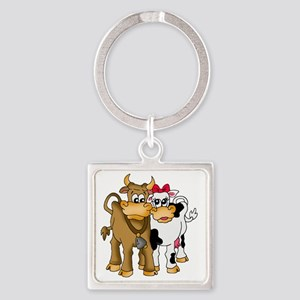Pair of cows Square Keychain