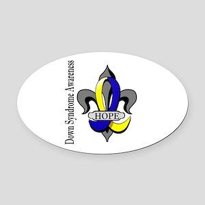 DS Fleur-De-Lis 1 Oval Car Magnet