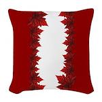 Canada Maple Leaf Souvenir Woven Throw Pillow