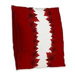 Canada Maple Leaf Souvenir Burlap Throw Pillow