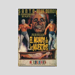 MEXICAN WRESTLING HORROR POSTER ART Magnet