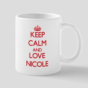 Keep Calm and Love Nicole Mugs