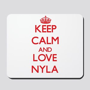 Keep Calm and Love Nyla Mousepad