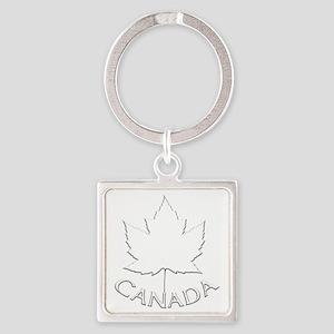 Canada Maple Leaf Souvenir Square Keychain cb3d2bfdaf