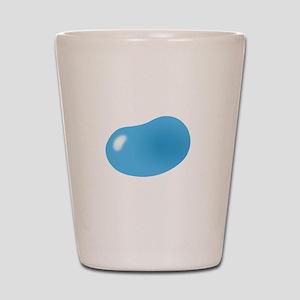 bigger jellybean blue Shot Glass